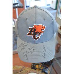 Autographed BC Lions hat