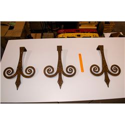 6 - Large Heavy Steel Hinges