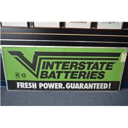 Interstate Batteries Metal Sign