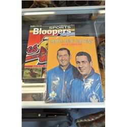 Hockey Lot - Vintage Maple Leaf Magazine & Bloopers Book
