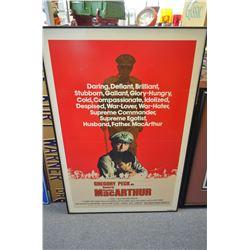 Framed MacArthur Poster