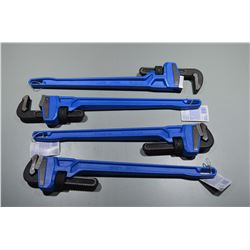 4 - Brand New Pipe Wrenches