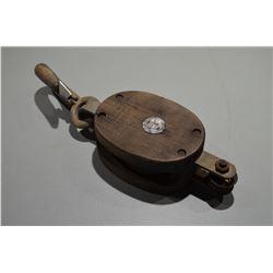 Vintage wood pulley