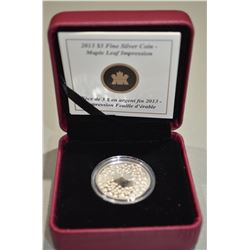 2013 $3 Silver Coin - Maple Leaf Impressions