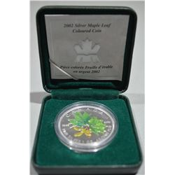 2002 Silver Coin - Coloured Maple Leaf