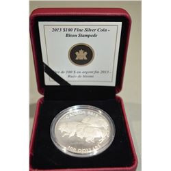 2013 $100 Silver Coin - Bison