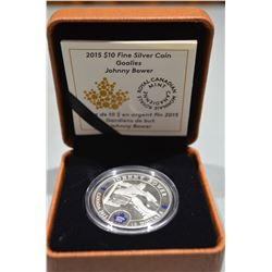 2015 $10 Silver Coin - Johnny Bower