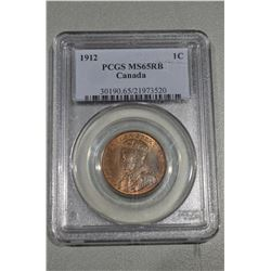 1912 Canada Penny MS65RB