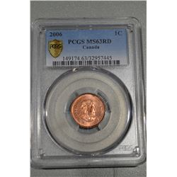 """2006 Canada NO """"P"""" (Magnetic) Penny - MS63Red"""