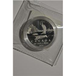 2015 $50 Canada Beaver Silver Coin