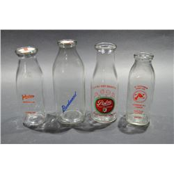 Lot of Collectible Milk Bottles