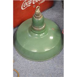 Vintage green porcelain light