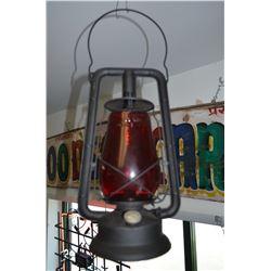 Vintage Lantern - Red Globe