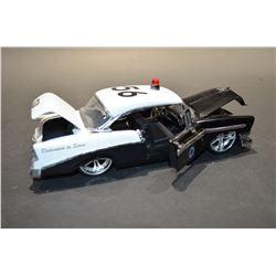 Vintage model police car