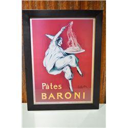 "Framed ""Pates Baroni"