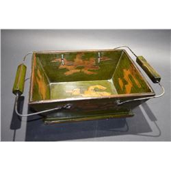 New modern wood green tray