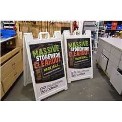 2 - Newer Sandwich Boards - Doublesided