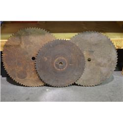 3 - Very Large Old Saw Blades