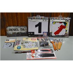 Lot of Stencils & Supplies