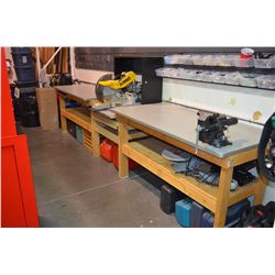 Work Benches - Dewalt Chopsaw & Vise