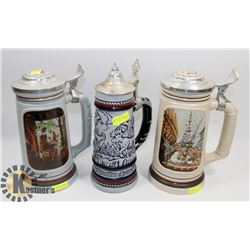 LOT OF THREE AVON COLLECTOR STEINS