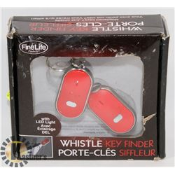 2 WHISTLE KEY FINDERS