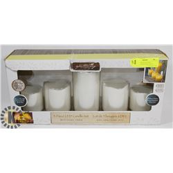 NEW LED 5PIECE BATTERY OPERATED CANDLE SET WITH