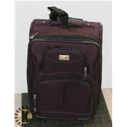 ROLLING CARRY ON SUITCASE-PURPLE