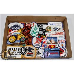 LOT OF ASSORTED PATCHES