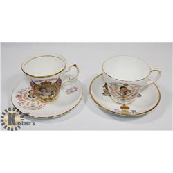 LOT OF TWO MADE IN ENGLAND ROYAL THEME