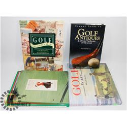 FIVE FULLY ILLUSTRATED BOOKS ON GOLF HISTORY & ART