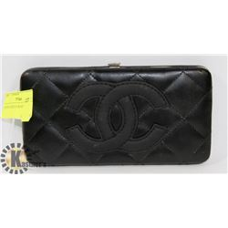 CHANEL REPLICA BLACK WALLET