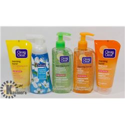 BAG OF CLEAN & CLEAR CLEANSERS AND MORE