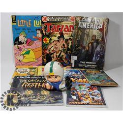 BOX OF VINTAGE COMICS INCL CAPTAIN AMERICA, XMEN,