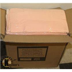 CASE OF 30 NEW LIGHT PINK DISPOSABLE TABLECLOTHS