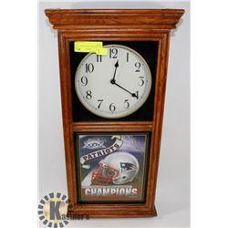 WASHINGTON PATRIOTS WALL CLOCK
