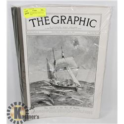 8 COMPLETE ORIGINAL ISSUES OF 'THE GRAPHIC'