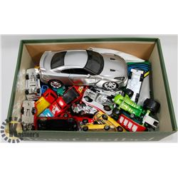 BOX OF ASSORTED DIE CAST CARS