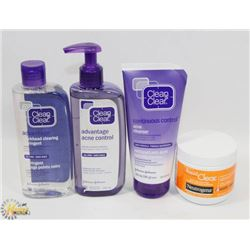 BAG OF ASSORTED ACNE CLEANSERS AND MORE