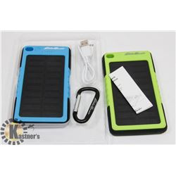 LOT OF TWO EDDIE BAUER SOLAR POWER BANKS 6000MAH
