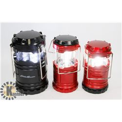 LOT OF 3 EDDIE BAUER 100 LUMEN CAMPING LANTERNS