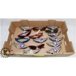 FLAT OF DESIGNER SUNGLASSES, MANY OAKLEY STYLE