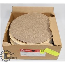 BOX OF DIAMOND GRIT SANDING DISCS 60 GRIT
