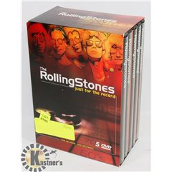 THE ROLLING STONES JUST FOR THE RECORD 5 DVD SET