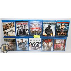 LOT OF 10 BLURAY MOVIES