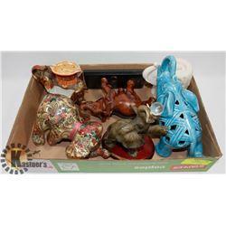 BOX OF DÉCOR ELEPHANTS