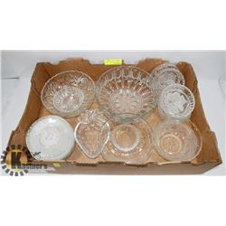 FLAT OF ASSORTED SERVING DISHES