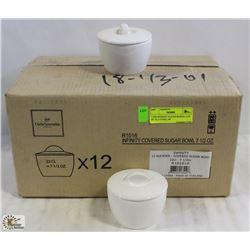7.5OZ INFINITY SUGAR BOWLS- LOT OF 12 (1 CASE), AR