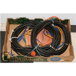 LOT OF 4 EXTENSION CORDS