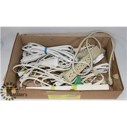 LOT OF ASSORTED POWER BARS AND EXTENSION CORDS